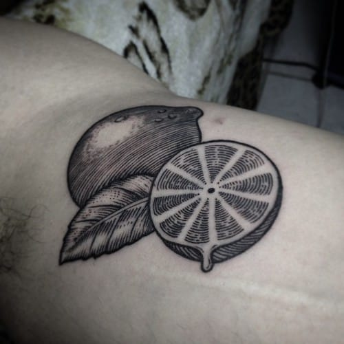 Cool linework! #JohnMendoza #lemontattoos #blackwork