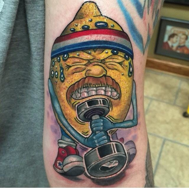 Hilarious one! #MatthewDavidson #lemontattoos #funnytattoos