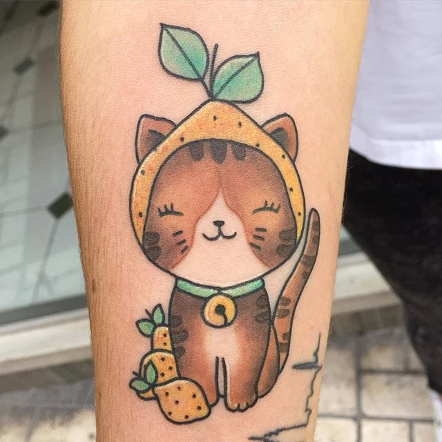 Sweet kitty #Meri #lemontattoos #cattattoos