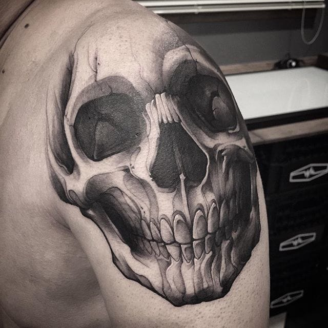 Incredible Skull Tattoos by Gara