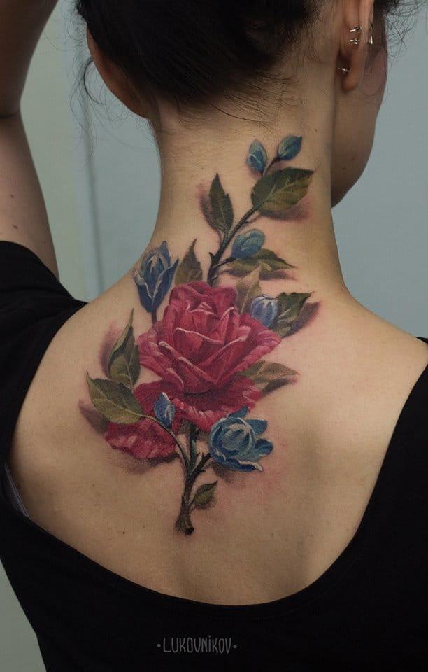 Lovely flower tattoo #AndreyLukovnikov #rosetattoos #flowertattoos