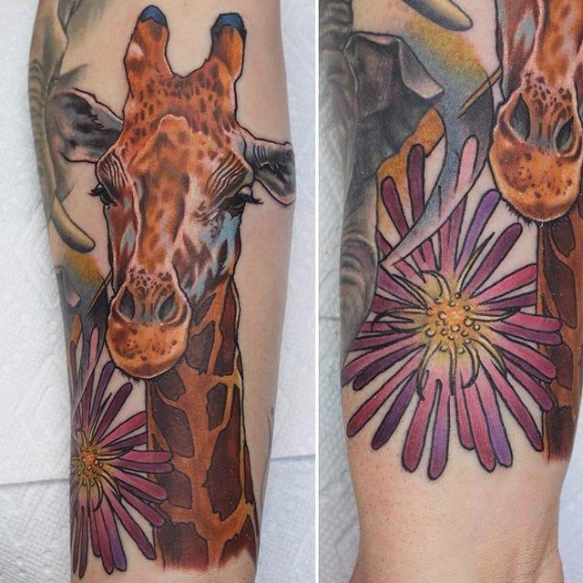 Lovely one #ChrisSmith #giraffetattoos