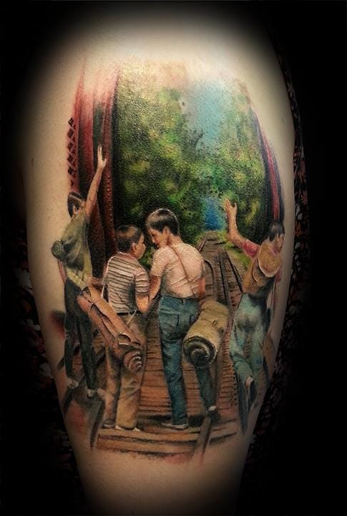 Lovely Stand by Me tattoo by Ravi Lassi.