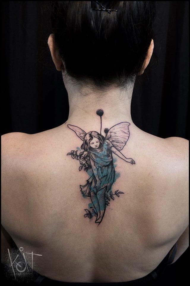 Sweet fairy #fairytattoos #Koit #graphictattoos