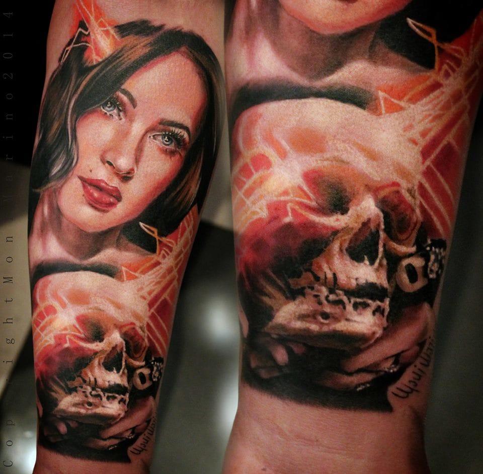 Fantastic #skulltattoos #MoniMarino #realistictattoos