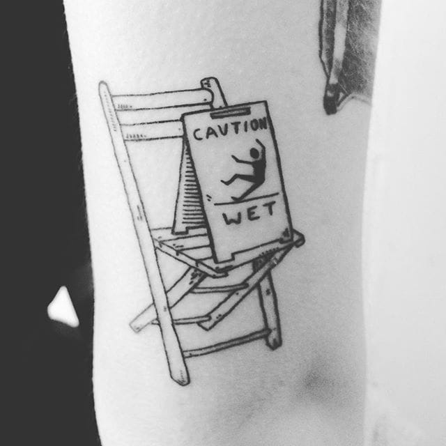 Caution wet chair! by @adadoestattoos