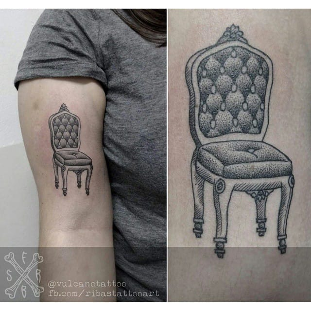 Comfortable classy chair, done at the Studio Vulcano