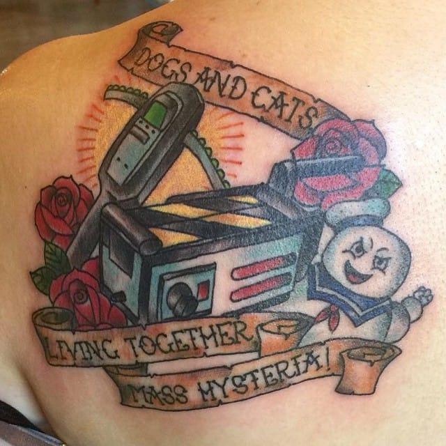 Tattoo by Crystal Hansen Martinez #ghostbusters #movie #traditional #crystalmartinez