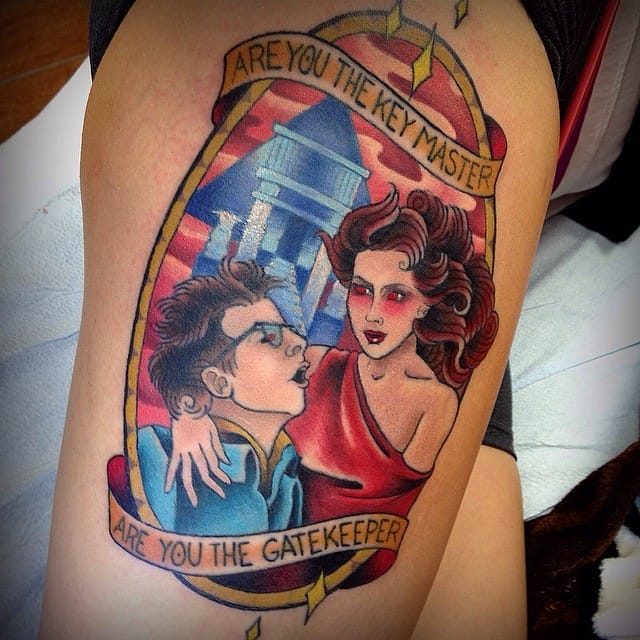 Tattoo by Kelsea McCree #ghostbusters #movie #traditional #kelseamccree