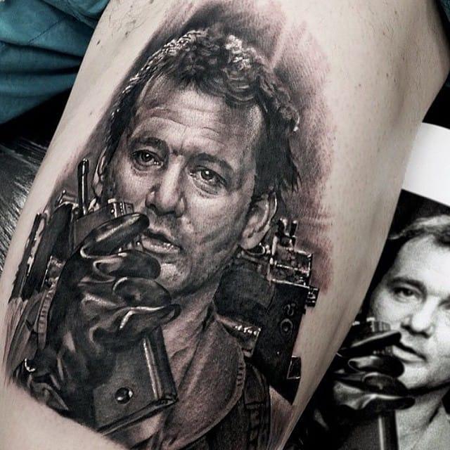 Tattoo by Matt Jordan #ghostbusters #movie #portrait #mattjordan