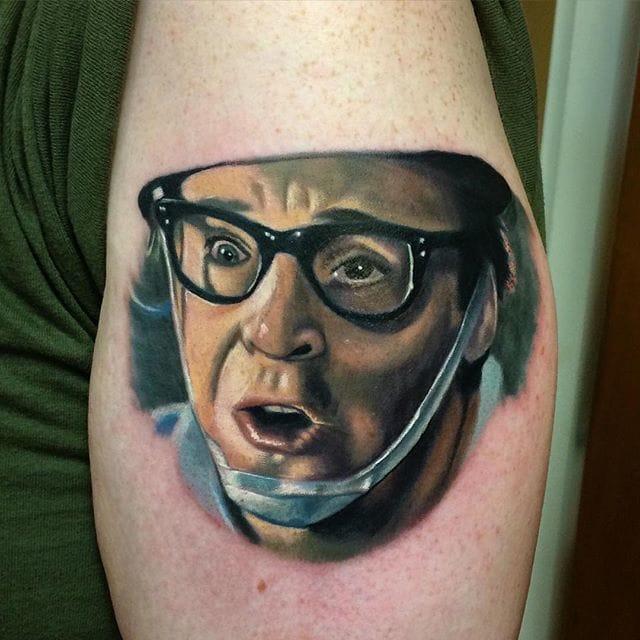 Tattoo by Eddie Bonacore #ghostbusters #movie #portrait #eddiebonacore