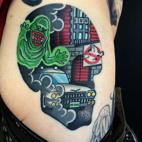 Tattoo by Sam Kane #ghostbusters #movie #traditional #samkane
