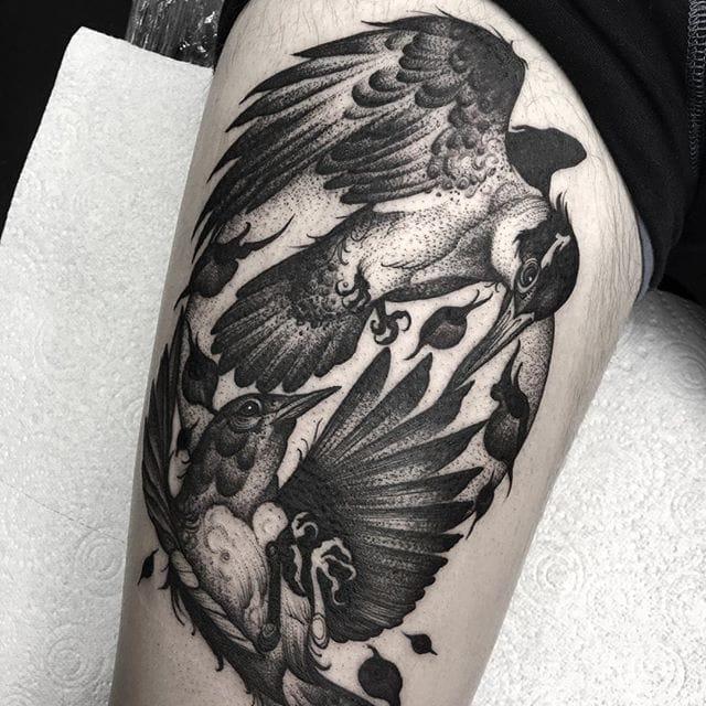 Tattoo by Kelly Violet. Instagram: @kellyviolence