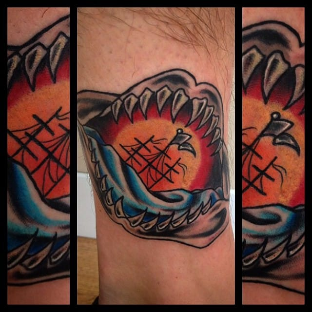 8 Sharp Shark Jaw Tattoos