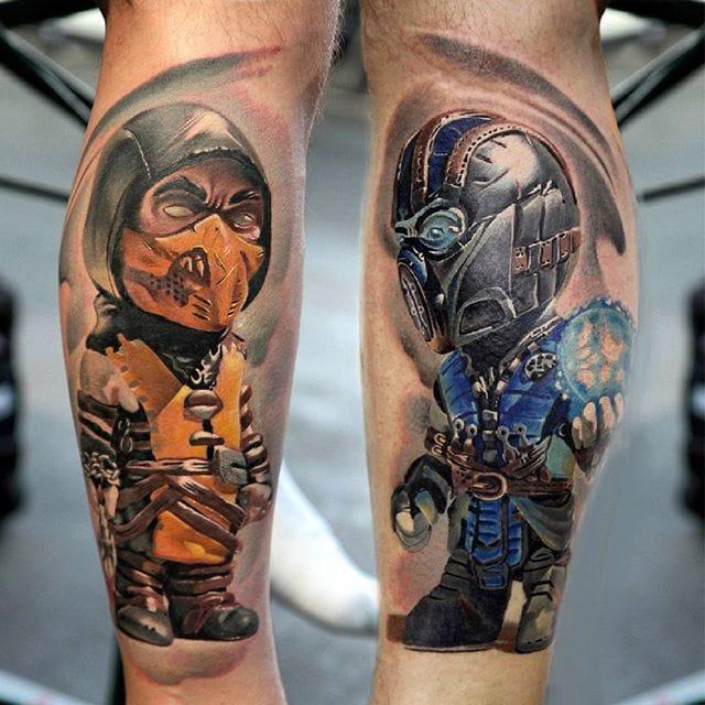 Very Cool Caricature Chibi Tattoos By Denis Torikashvili