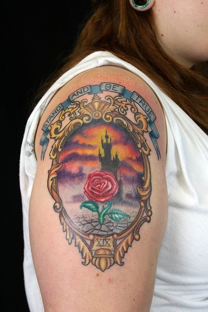 Cute Dark Tower tattoo by Elijah Pashby.
