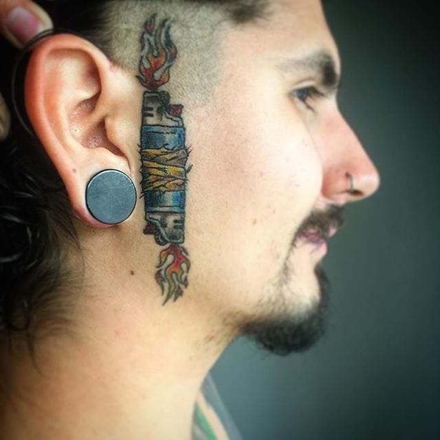 Fire It Up With These 13 Lighter Tattoo Designs