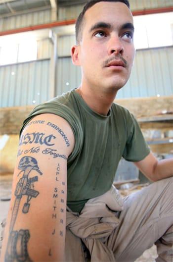 Marine Memorial Tattoo #marines #marinetattoopolicy #military