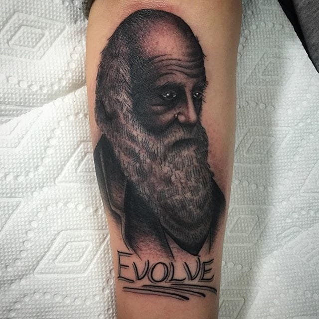 Tattoo by Don Ritson #charlesdarwin #darwin #portrait #donritson