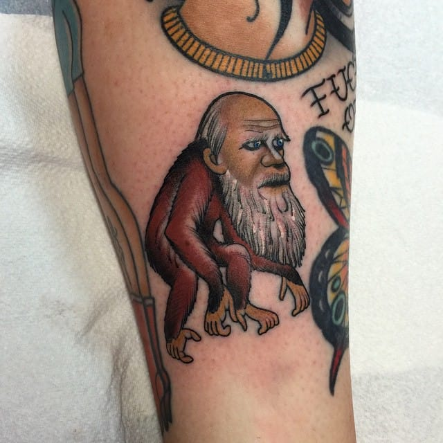 11 Dignified Charles Darwin Tattoos