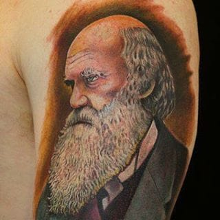 Portrait Tattoo by Paris Pierides #charlesdarwin #darwin #portrait #parispierides