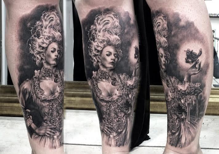 Detalhezinho da máquina de tatuar! #pretoecinza #black&grey #realismo #talentogringo #alemanha #tattoodo #brasil #brazil #portugues #portuguese
