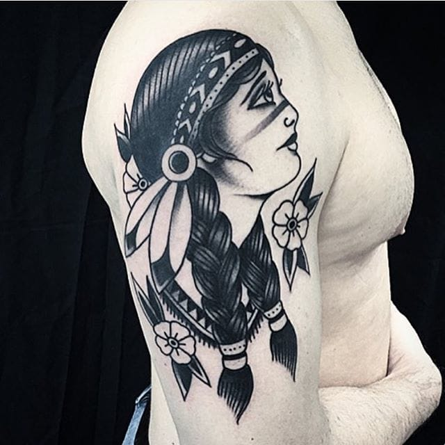 These Blackwork Native American Tattoos Are Awesome
