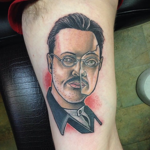 Richard Harrow Tattoo by @dmuggg #richardharrow #boardwalkempire #traditional #dmuggg