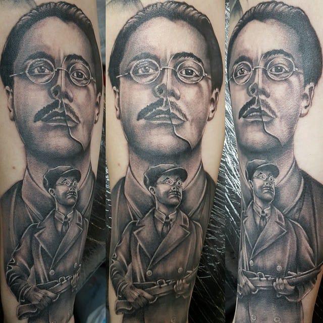 Tattoo by Brian Tipping #richardharrow #boardwalkempire #portrait #briantipping