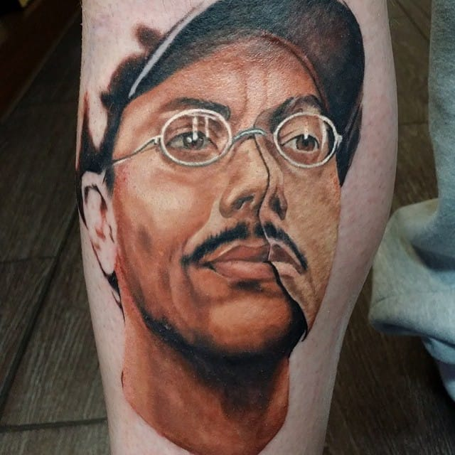 Portrait Tattoo by Matt Barrett Jones #richardharrow #boardwalkempire #portrait #mattbarrettjones