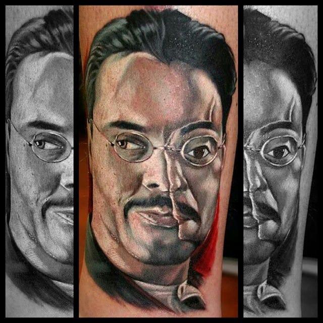 Tattoo by Matthew Lukesh #richardharrow #boardwalkempire #portrait #matthewlukesh