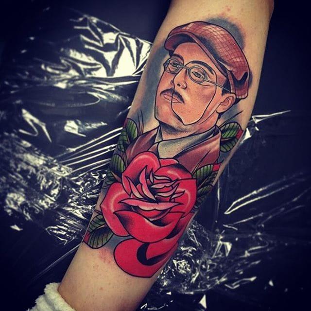 Tattoo, artist unknown #richardharrow #boardwalkempire #traditional
