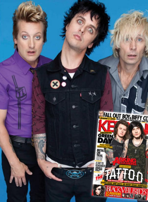 Green Day gives a cool interview in this month's Tattoo Issue via Kerrang!