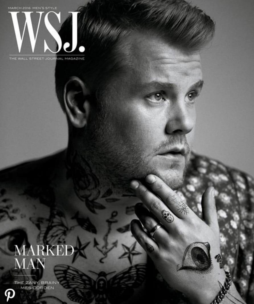James Corden's cover of WSJ magazine, via E! Online