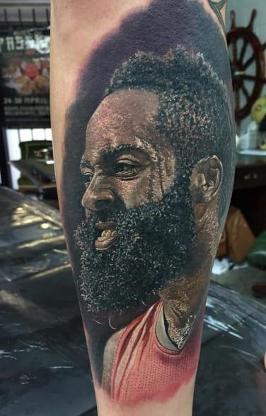 James Harden by Steve Butcher Tattoos