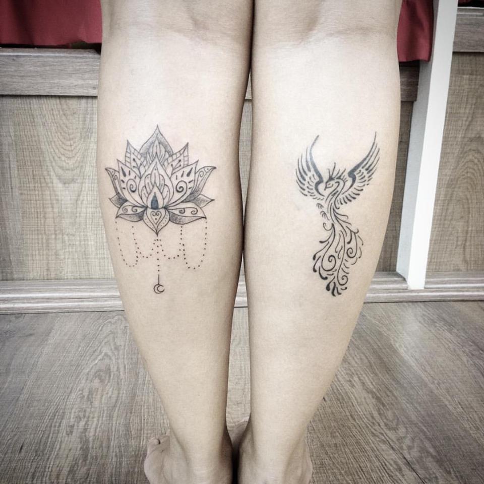 Tatiagens fofas feitas pela Laila Raeder! #delicada #fenix #tatuadorasbrasileiras #talentonacional #rainhasdatattoo #brasil #brazil #portugues #portuguese