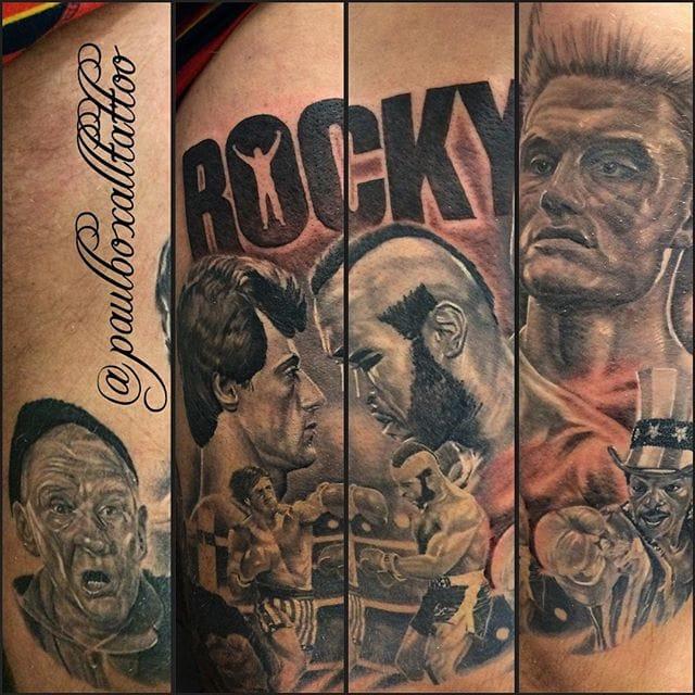 Tattoo by Paul Boxall #rockybalboa #portrait #paulboxall