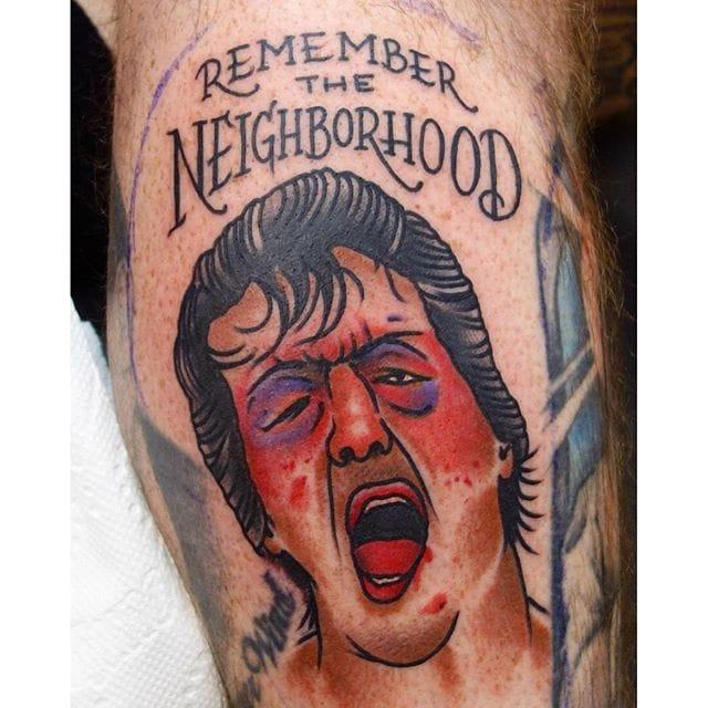 Tattoo by Steve Fawley #rockybalboa #portrait #traditional #stevefawley