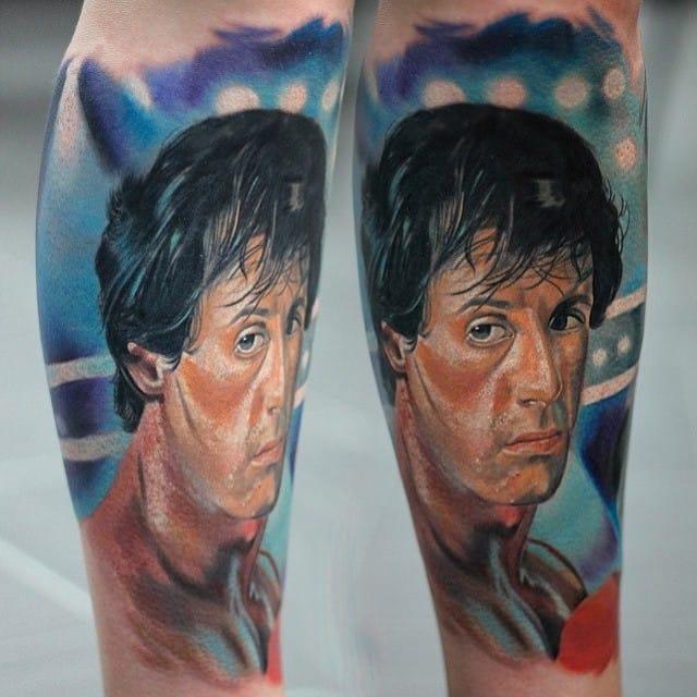 Tattoo by Vainer Tattoo #rockybalboa #portrait #vainertattoo