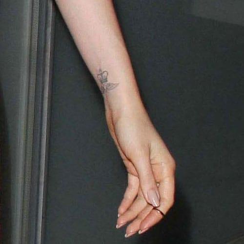 Collins' wrist tattoo.