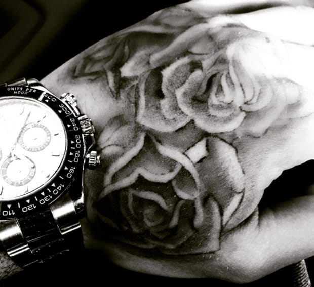 Liam's new hand roses.