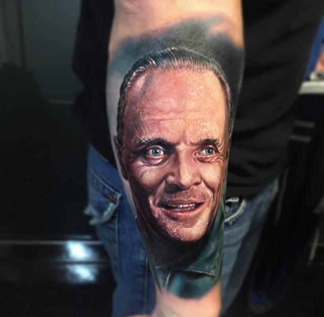 Anthony Hopkins! #hannibal #anthonyhopkins #realismocolorido #realismo #tatuagensrealistas #talentogringo #paulacker #brasil #brazil #portugues #portuguese