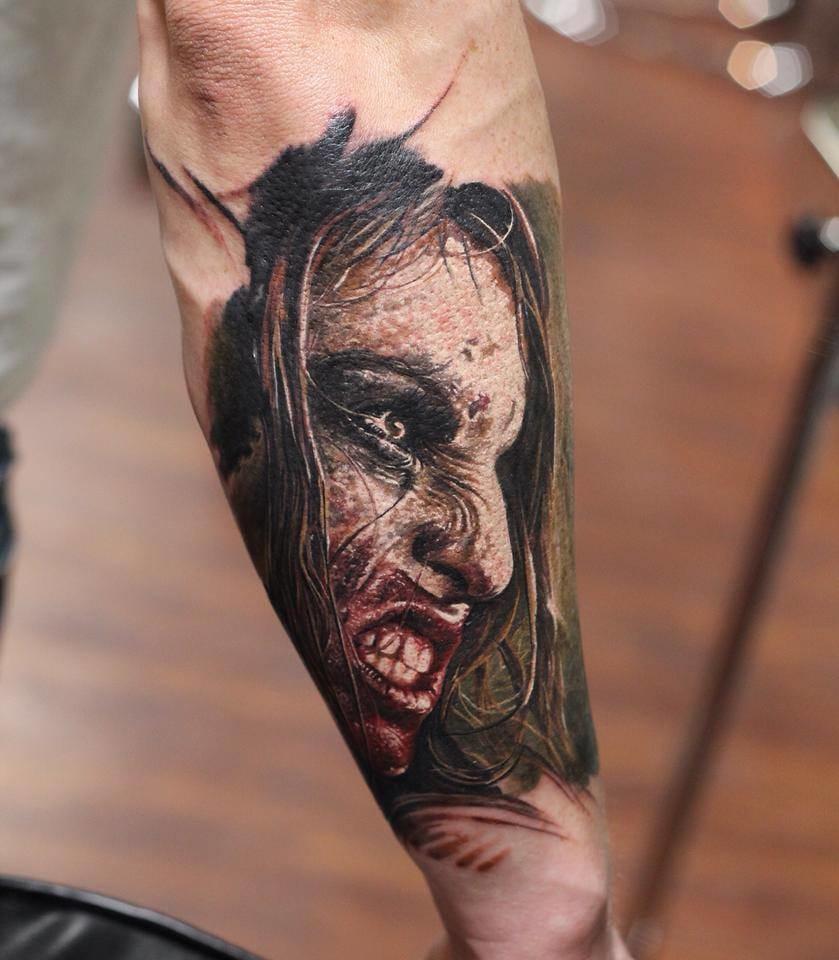 17 Tatuagens De Zumbis Horripilantes