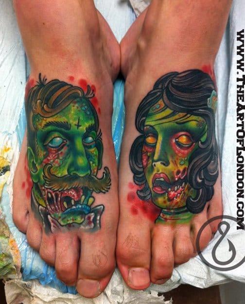 London Reese #zumbis #tatuagemdezumbi #zombietattoo #nerd #thewalkingdead #brasil #brazil #portugues #portuguese