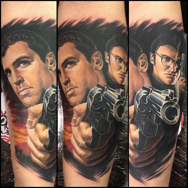 Realistic portrait tattoo #tattoorealism #colorportrait #colorrealism #randyengelhard