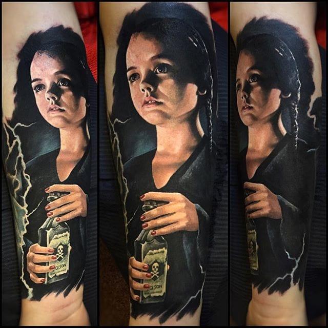 Realistic movie-themed portrait #tattoorealism #colorportrait #colorrealism #randyengelhard