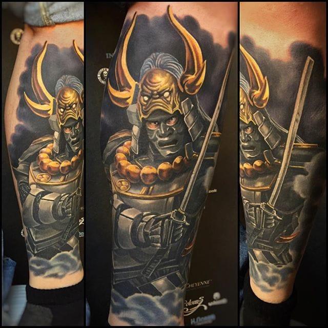 Realistic tattoo #tattoorealism #colorportrait #colorrealism #randyengelhard