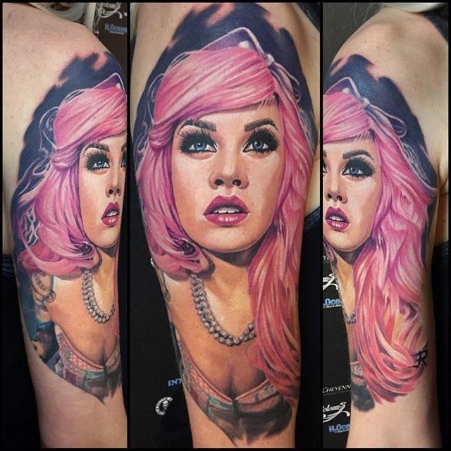Colorful portrait #tattoorealism #colorportrait #colorrealism #randyengelhard