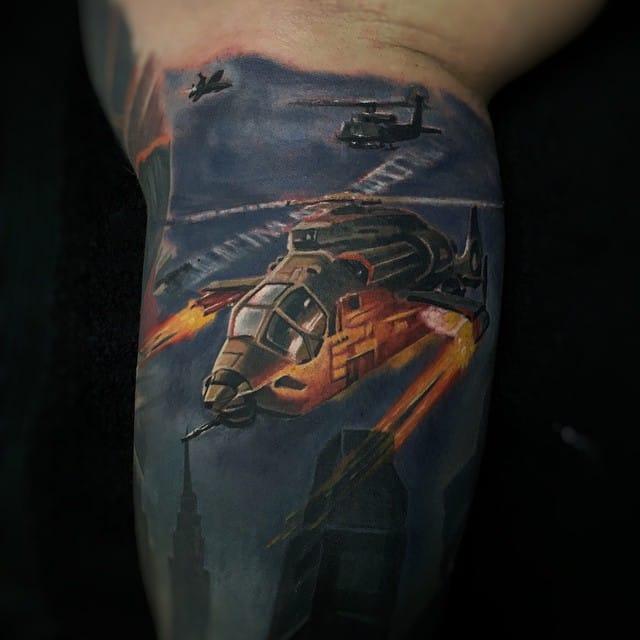 Tattoo by Randy Engelhard #tattoorealism #colorportrait #colorrealism #randyengelhard