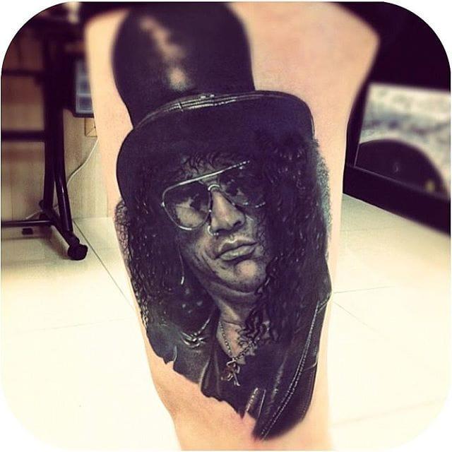 Slash Tattoo by Ken Patten #gunsnroses #slash #portrait #kenpatten